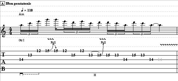 Blues Lick in A Minor