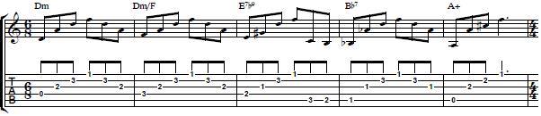 Arpeggio Exercise with Chords - Rhythm Guitar Lesson