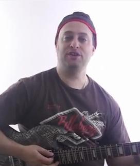 Easy Rhythm Blues Shuffle Riff on Guitar