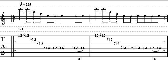 Rhytmic Lick idea with Artificial Harmonics and Rake Technique
