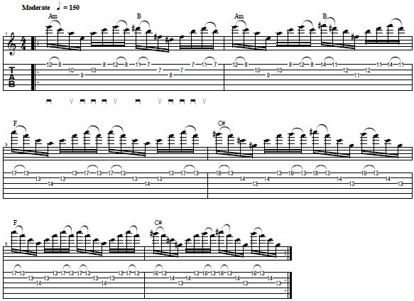 Sweep Picking Exercise with Triads -- Lead Guitar Lesson