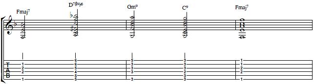 Jazz Guitar Turnaround with All Thumb Chords - Jazz Guitar Lesson