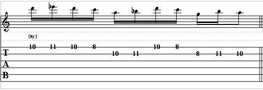 Bebop Guitar Lick in the Style of Charlie Parker