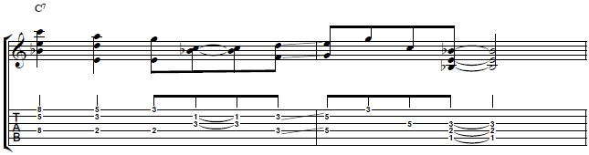 Chord-Soloing-Lick-Over-The-IV-Degree-Blues-Guitar-Lesson