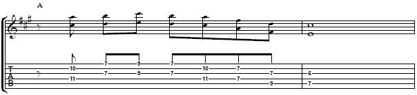 Cool Guitar Lick with Interval of 6th -- Electric Guitar Lesson