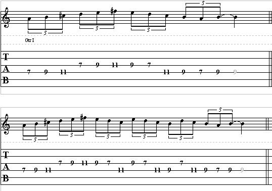 Mini Lesson of the Day on Scale Pattern Licks