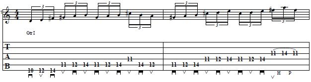 Lydian Scale Pattern in the Style of Paul Gilbert - Guitar Lesson on Alternate Picking Lick