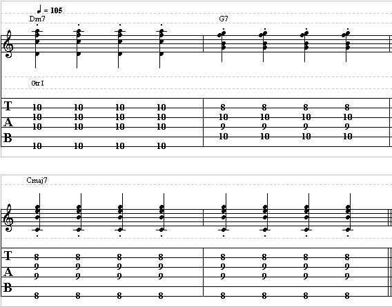 Basic Jazz Guitar Lesson on Chords Part 2