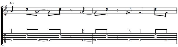 Latin Minor Progression `Montuno´ Style - Latin Rhythm Guitar Lesson