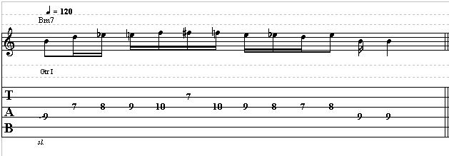 Cool Blues Lick with Chromatism in B Minor