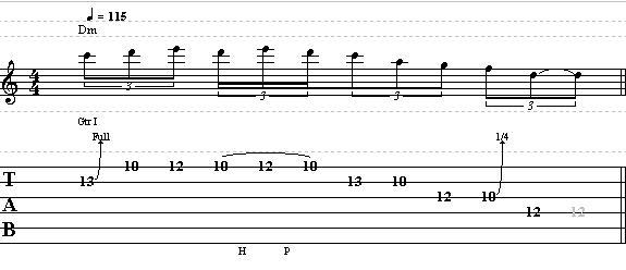 Easy Dorian Guitar Lick in D – Lead Guitar Lesson on Dorian Licks part 3