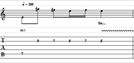 Easy Guitar Melodic Idea With Wide Intervals – Lead Guitar Lesson on Chordal Licks