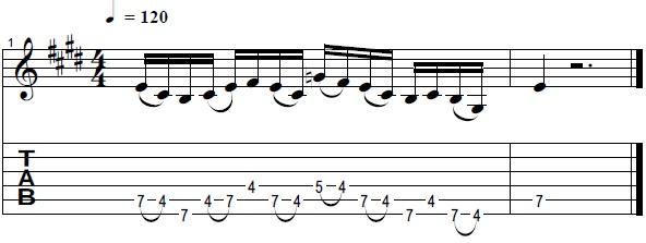 Killer Pentatonic Lick in the Style of Paul Gilbert -- Lead Guitar Lesson on Pentatonic Licks