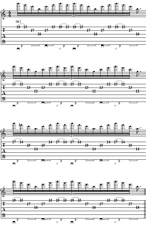 Easy 3 Strings Sweep Picking Lick in E Minor -- Lead Guitar Lesson on Sweep Picking Licks