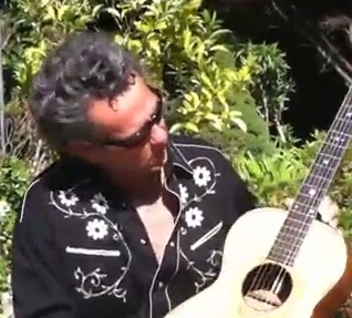 Vintage Acoustic Guitar - lesson in open D tuning