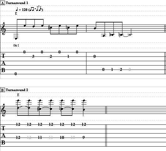Learn to Play a Blues Turnaround in E - Blues Guitar Lesson on Turnarounds