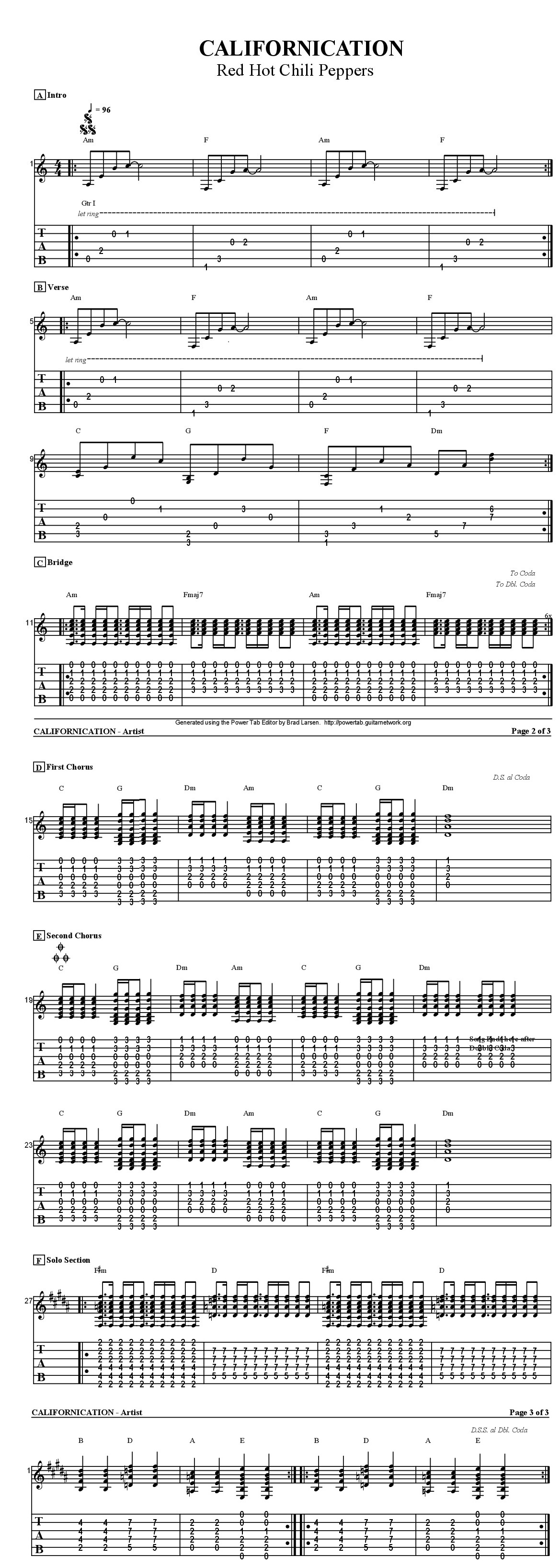 How To Play Californication By Red Hot Chilli Peppers