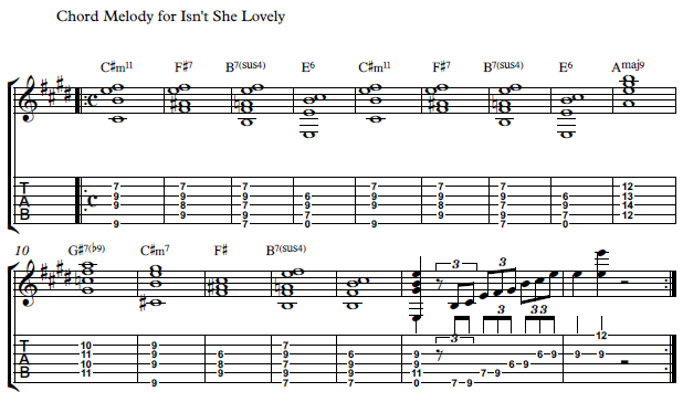 How To Play Isn T She Lovely By Stevie Wonder Rhythm Guitar Lesson Guitar Control