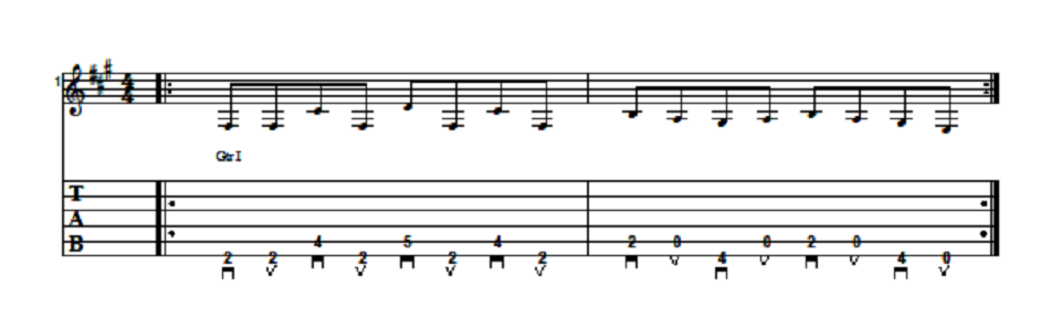 Randy Rhoads Riff Guitar Lesson