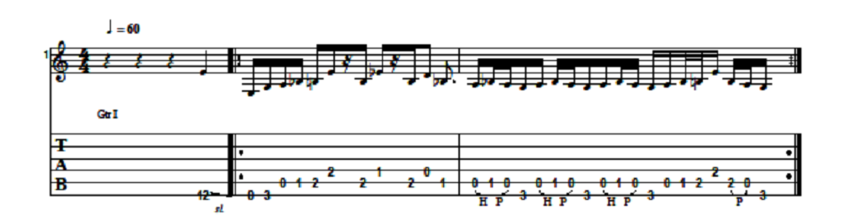 Tony Iommi Riff