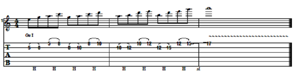 Easy Pentatonic Lick With Hammer-on Technique