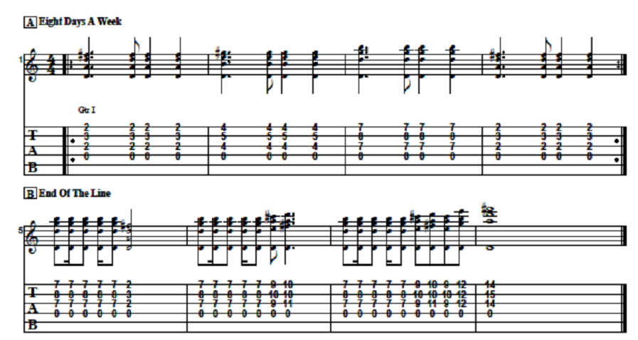 Easy Killer Chordal Classic Rock Song Intros