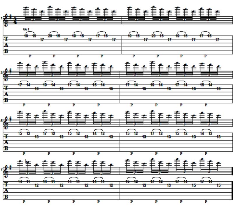 Easy Melodic Two String Arpeggio Riff Lesson